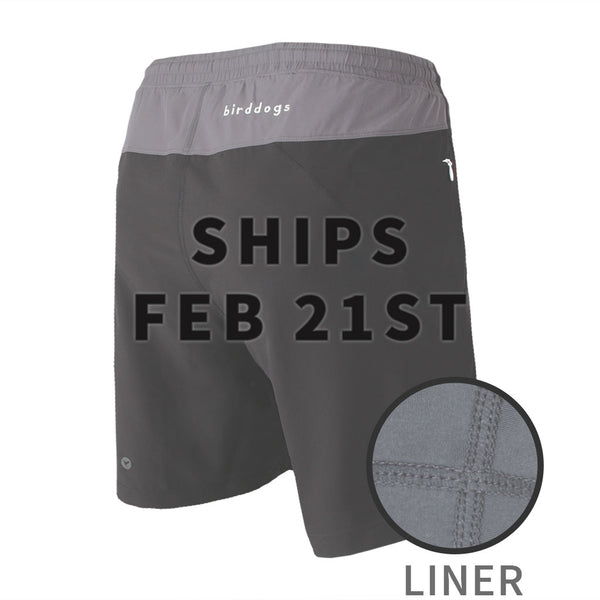 Birddogs The Duster Black Gray Gym Shorts Gray Liner Main Preorder Date