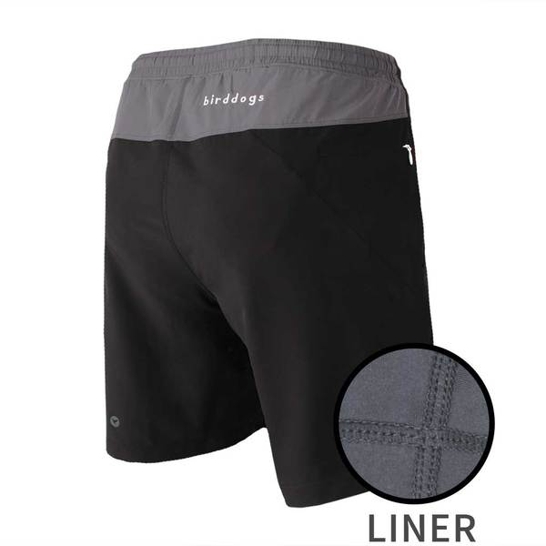 Birddogs The Duster Black Gray Gym Shorts Gray Liner Main Preorder