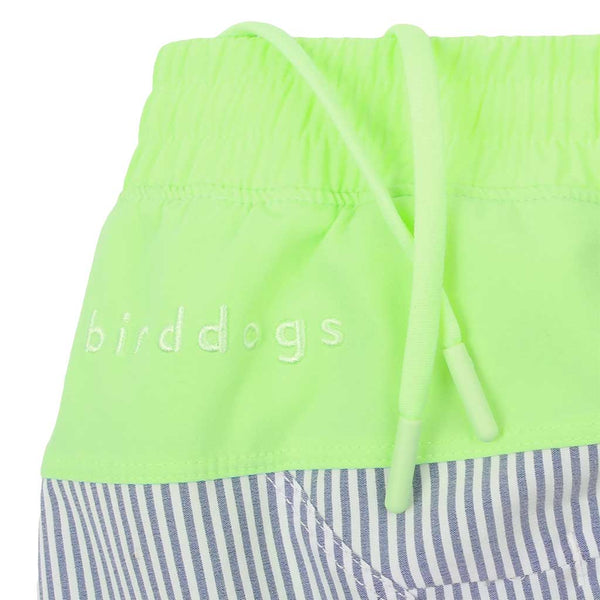 Birddogs The Hornets Blue Seersucker Gym Shorts Mint Green Liner Waistband