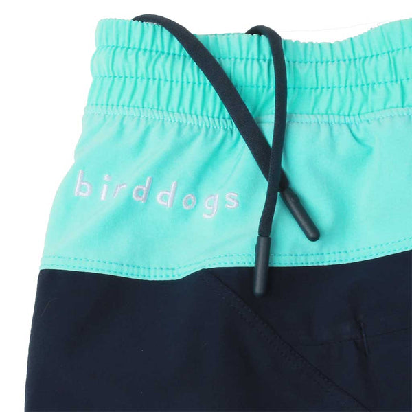 Birddogs The Kerfuffles Navy Light Turquoise Gym Shorts Lavender Purple Liner Waistband