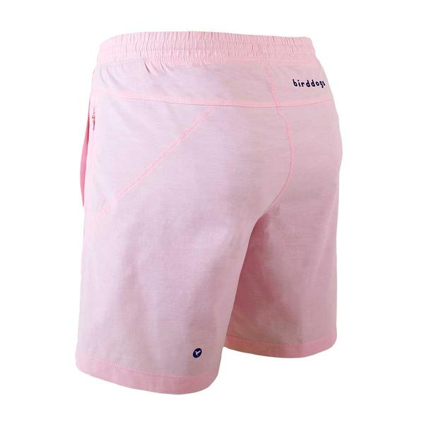 Birddogs The Pink Pauls Pink Oxofrd Gym Shorts Navy Liner Back Left Angle Preorder