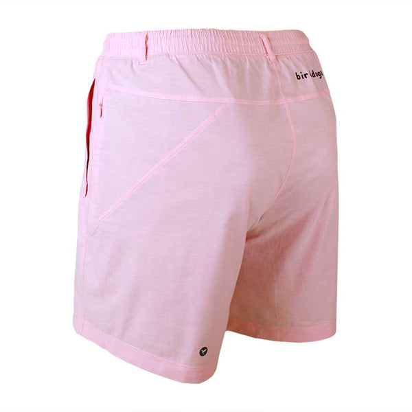 Birddogs The Pink Pauls Pink Oxford Gym Shorts Navy Liner Back Left Angle