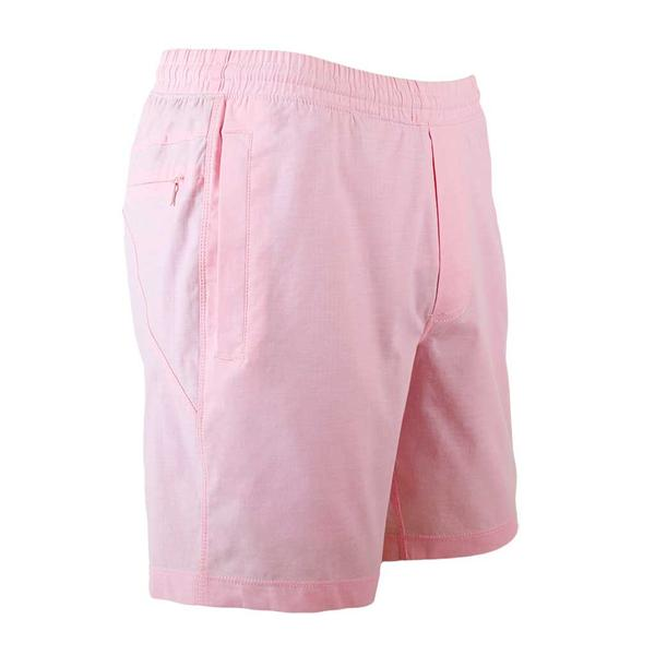 Birddogs The Pink Pauls Pink Oxofrd Gym Shorts Navy Liner Front Right Angle Preorder
