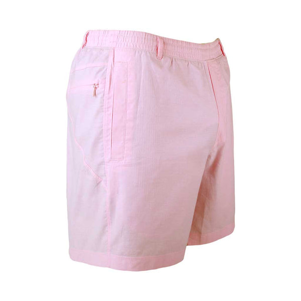 Birddogs The Pink Pauls Pink Oxford Gym Shorts Navy Liner Front Right Angle