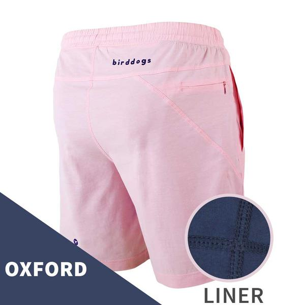 Birddogs The Pink Pauls Pink Oxofrd Gym Shorts Navy Liner Main Preorder