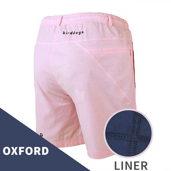 Birddogs The Pink Pauls Pink Oxford Gym Shorts Navy Liner Main