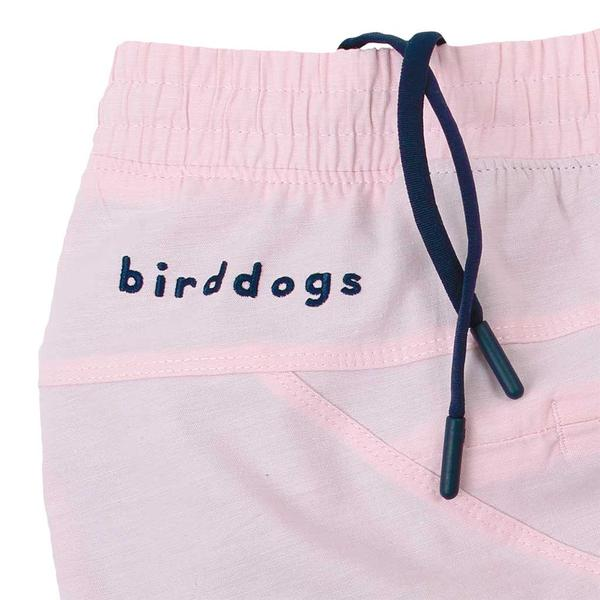Birddogs The Pink Pauls Pink Oxofrd Gym Shorts Navy Liner Waistband Preorder