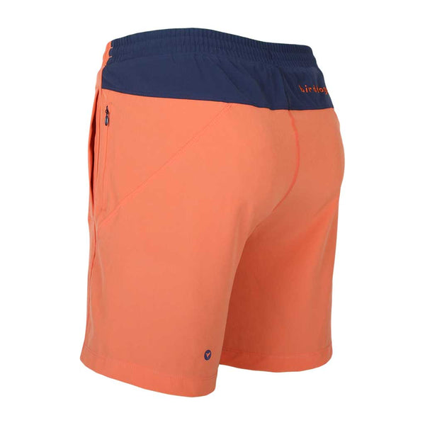 Birddogs The Salmon of Capistrano Salmon Orange Navy Gym Shorts Navy Liner Back Left Angle