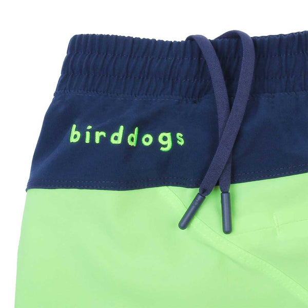 Birddogs The Thrusters Mint Green Navy Gym Shorts Navy Liner Waistband