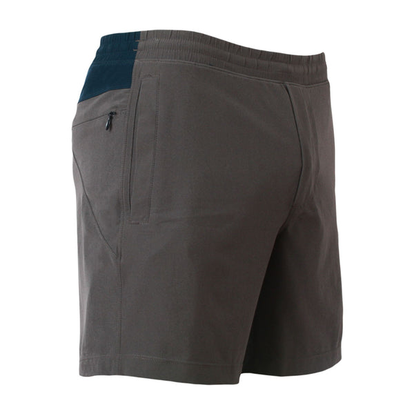 Birddogs Ironsides Navy Gray Gym Shorts Navy Liner Front Right Hip