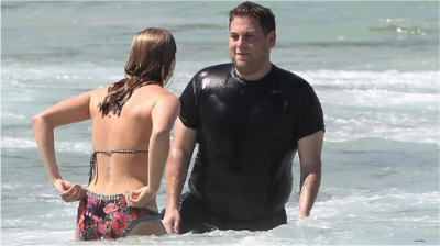 Jonah Hill at beach