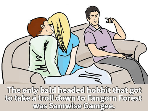 The only bald headed hobbit that got to take a troll down to Fangorn Forest was Samwise Gamgee.