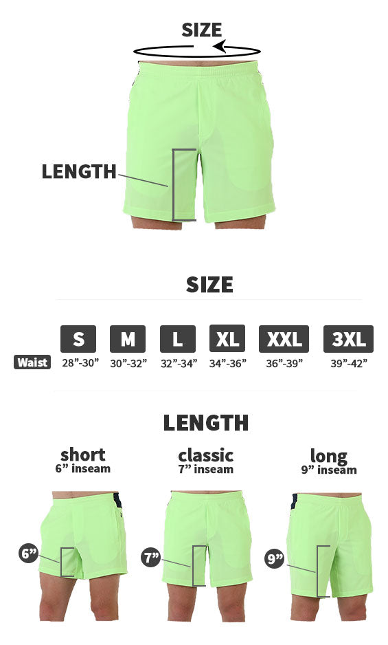 Birddogs shorts and pants fit guide