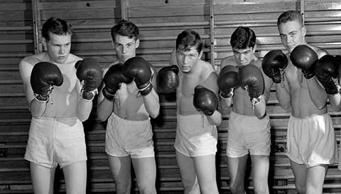 Vintage boxing photo.