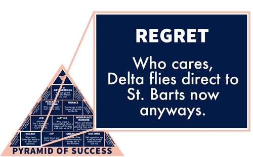 Regret: Who cares, Delta flies direct to St. Barts now anyways.
