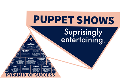 Puppet shows: Surprisingly entertaining.