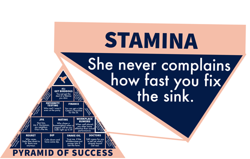 Stamina: She never complains how fast you fix the sink.