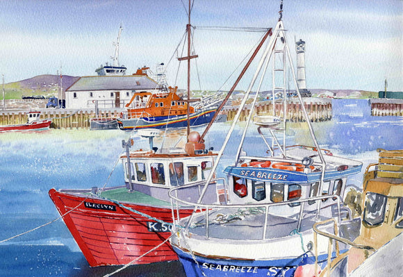 The lifeboat at Kirkwall Harbour
