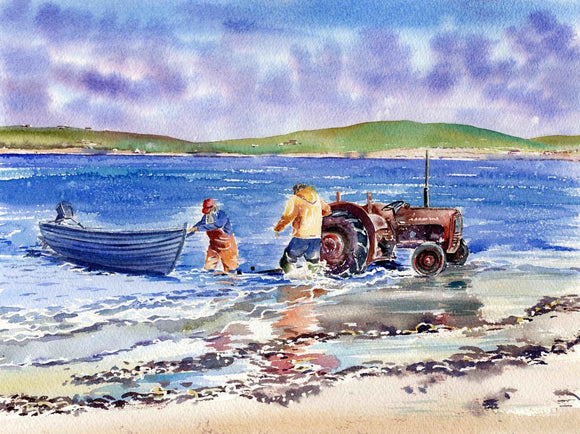Going fishing, Skaill beach, Orkney