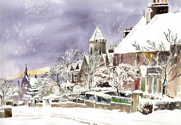 Dundas crescent, Kirkwall in the snow