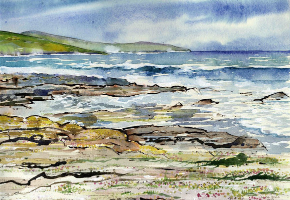 Wild sea at Grobust beach, Westray