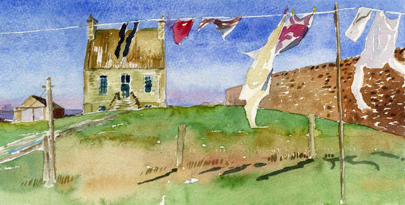 Dr John Rae's home with washing line