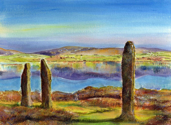 Winter sunlight at The Ring of Brodgar