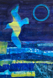 A blue day with gull and blue sun original