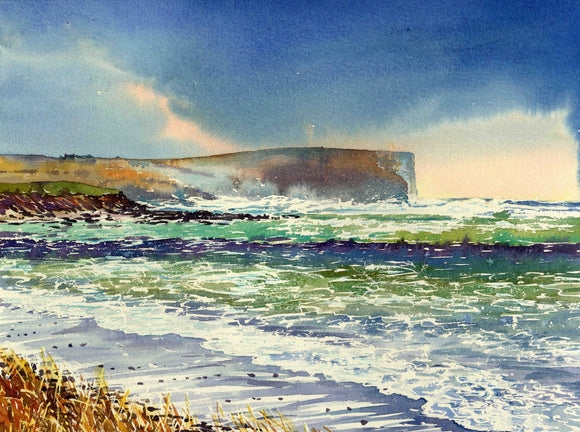 Stormy sea at Birsay canvas print