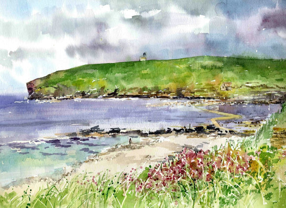 The path across to the Brough of Birsay in Orkney
