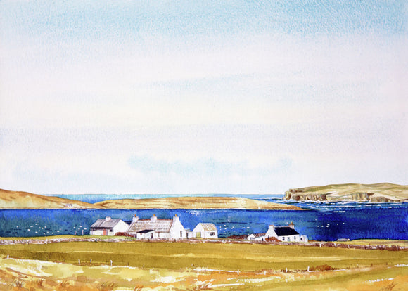 Eynhallow and Rousay from Evie, Orkney