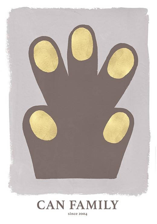 Hand/Paw Poster Brown - Interia design AB
