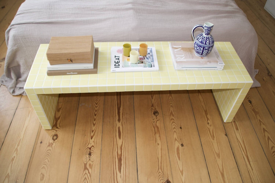 Coffee Table - Light Yellow