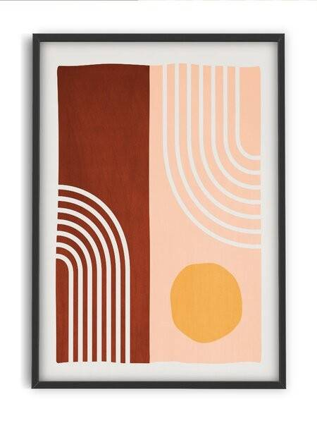 Abstract modern art poster - Interia design AB