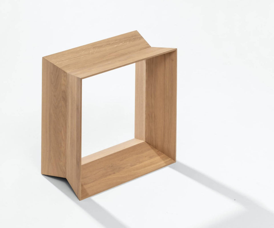 REFLEX stool, natural matt lacquer
