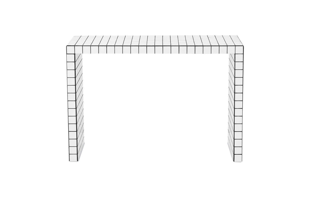 SHORT CONSOLE TABLE - WHITE