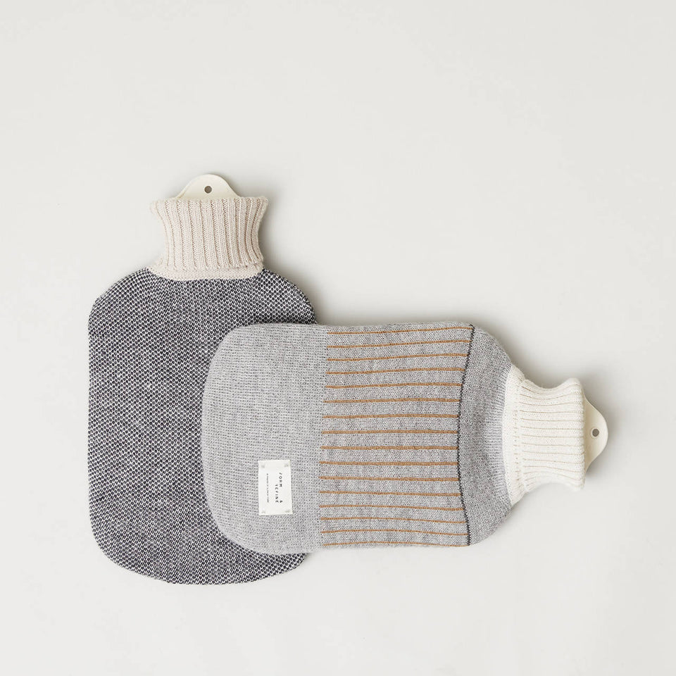 Aymara Hot Water Bottle, Pattern Grey