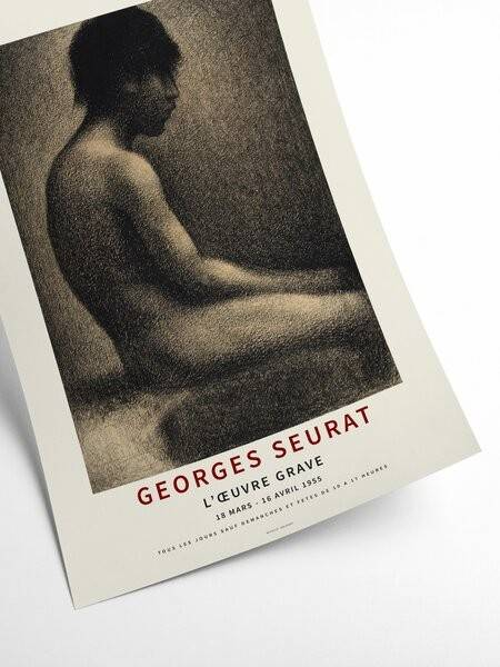 Georges Seurat - Sketch of young man - Interia design AB