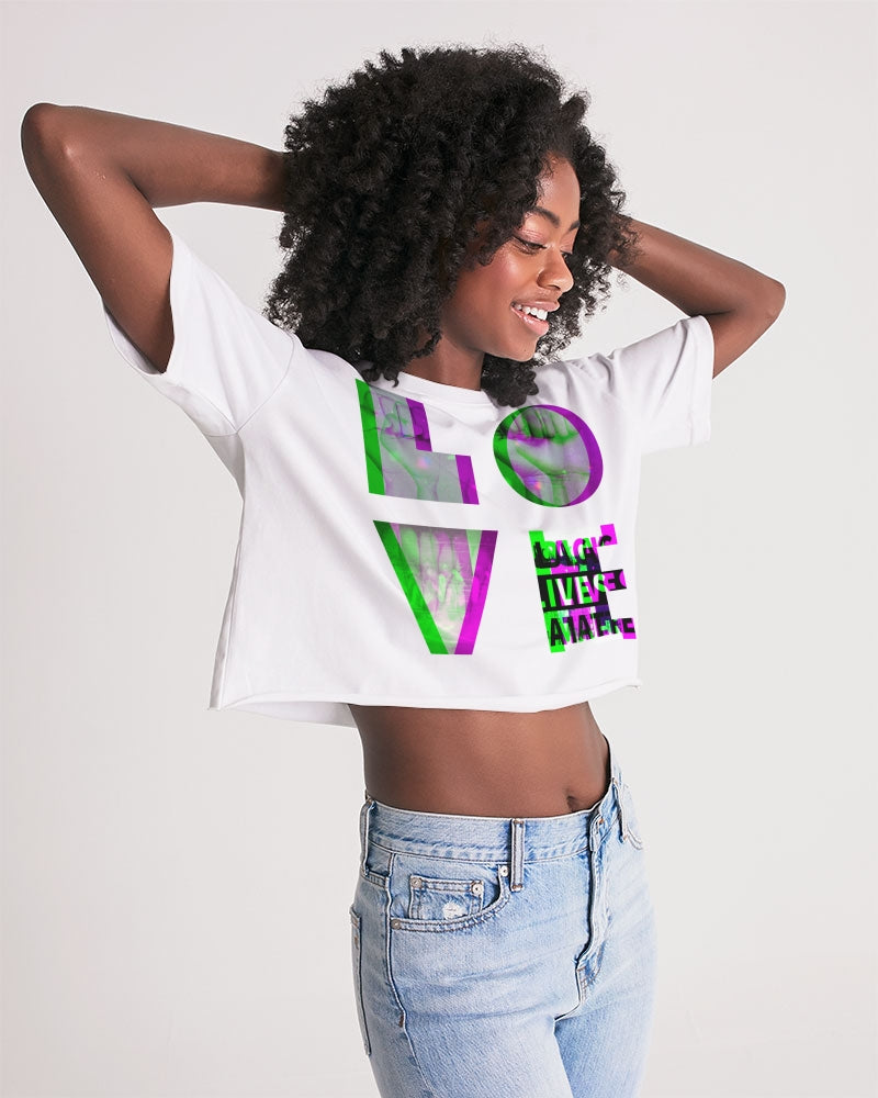 LOVE BLM Purple/Pink Women's Lounge Cropped Tee