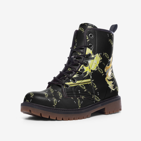 'Fly High' Classic Monogram Combat Boots