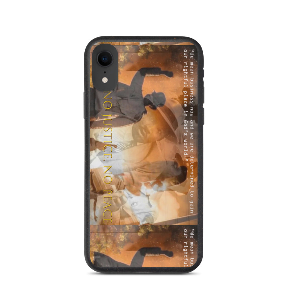 No Justice No Peace iPhone 11 [all models] Biodegradable Phone Case