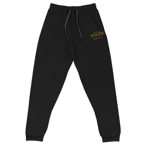 Black/Gold HH Signature Embroidered Joggers