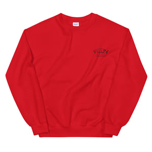 Red Embroidered Signature Crew Sweater