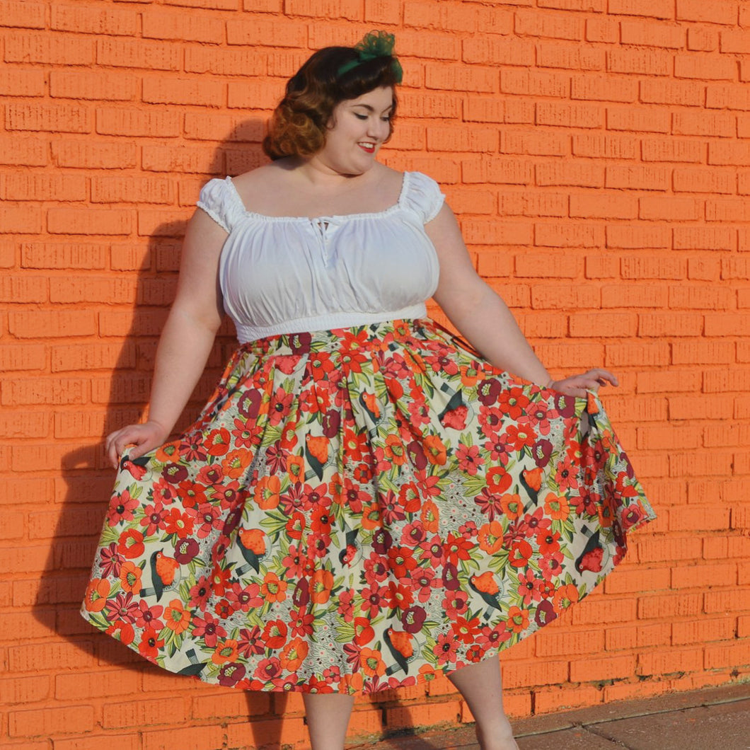 Madison Skirt in Birds
