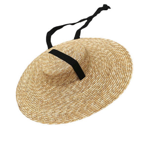 Large Straw Hat with Tie