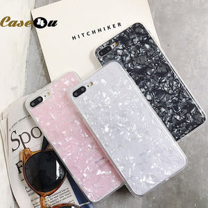 Luxury Case For iPhone 11 Pro XS Max XR X 10 8 7 6 6s Plus Seashell Silicone Phone Cases - CaliDiscount| Iphone Cases, Samsung, Cases, Airpods,Airpod Cases