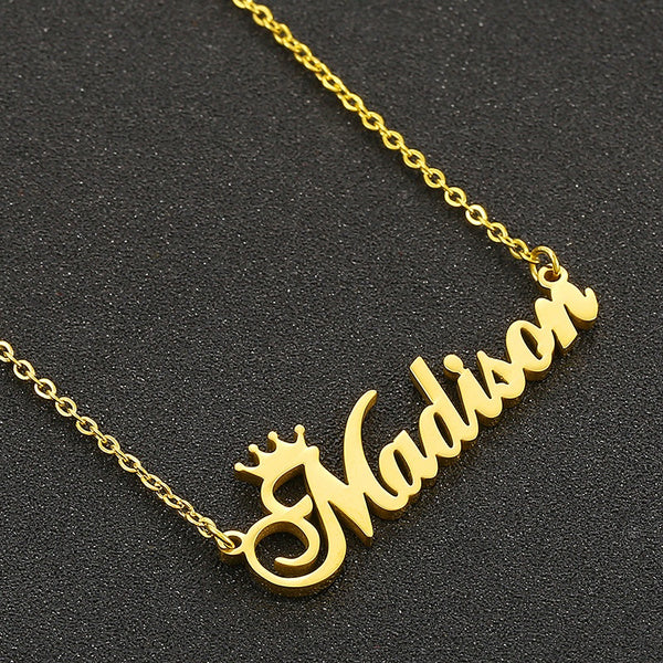 Gold Plated Custom Name Necklace
