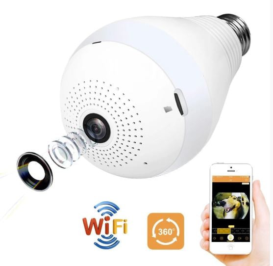360 Wireless Security Camera Light Bulb
