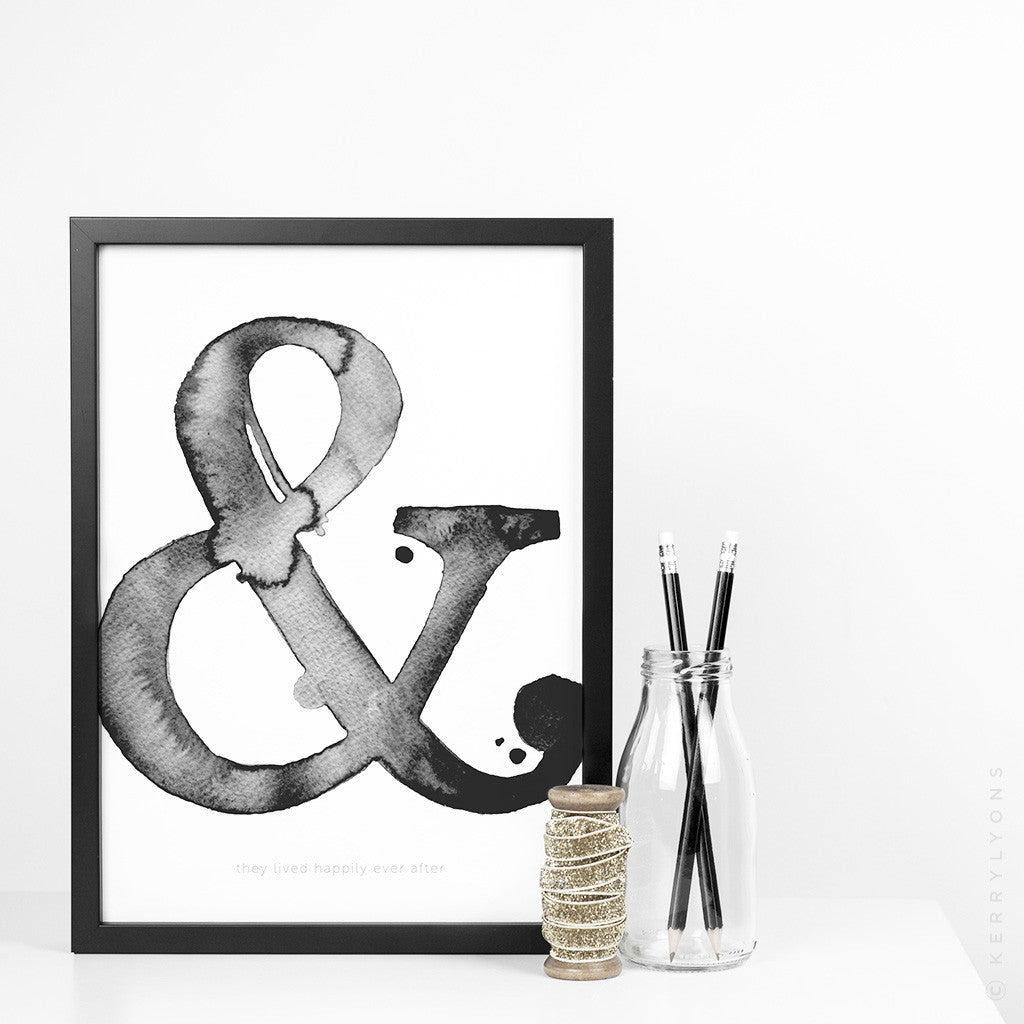 Wedding/Engagement monogram – A4/A3 prints