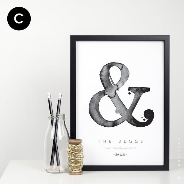This classy, A3 unframed print (297 x 420mm) is a perfect personalised gift for your partner or for 'the happy couple' to mark those super-exciting memorable occasions